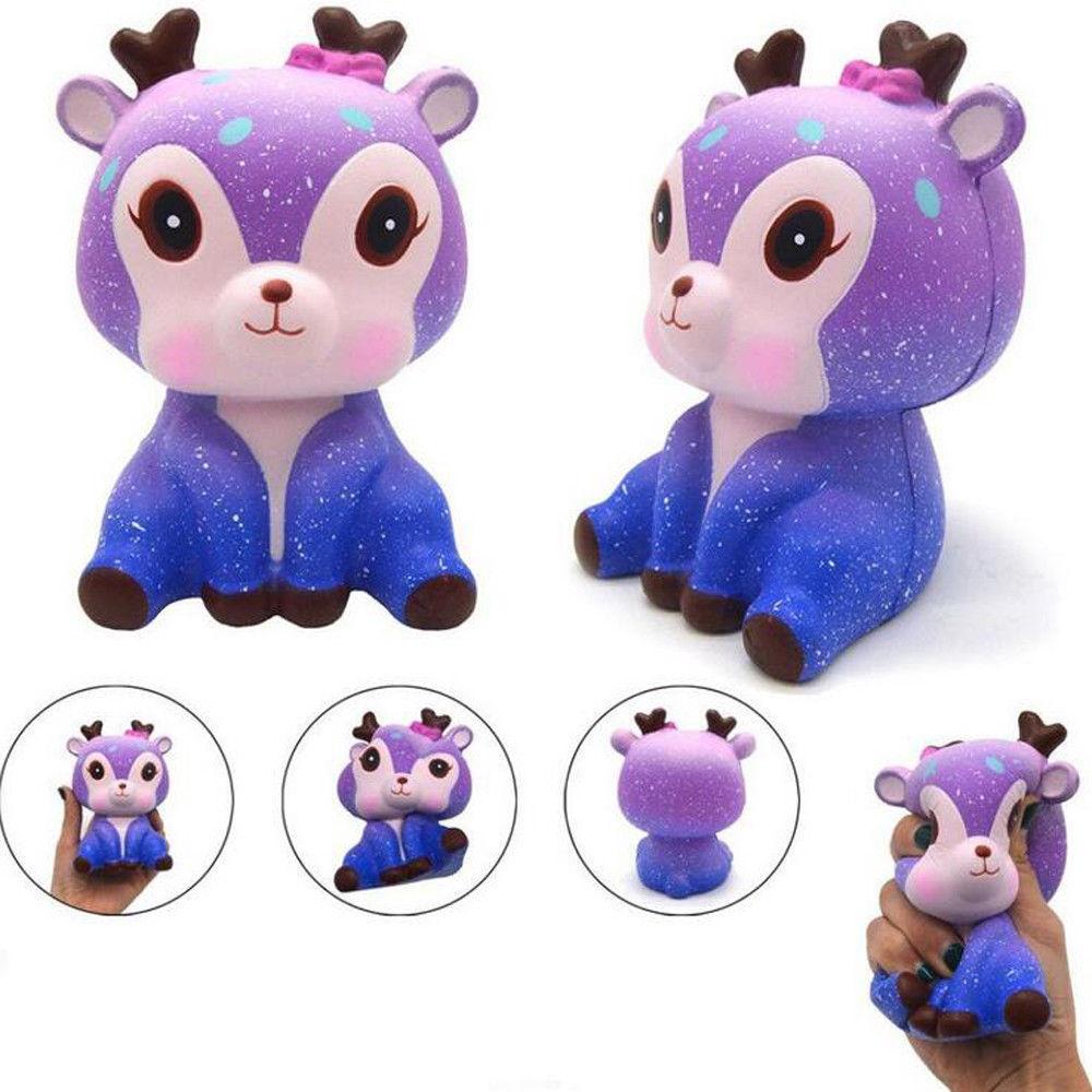 11cm Children'S Toys Decompression Cute Kawaii Cartoon Deer Cream Fawn Squishy Squeeze Toy Best Christmas Birthday Gift