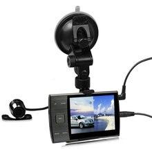 219 Автомобильная электроника черный ящик тире cam 140 градусов широкий угол камера автомобиля вид сзади HD 720 P авто camera recorder с двумя объективами dvr