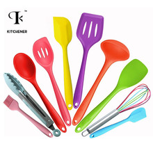 10pcs/set Silicone Colorful Baking Utensils Set Kitchen Accessories Cooking Tools