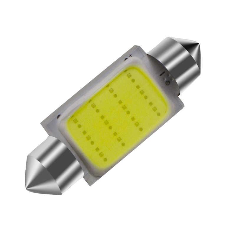 MEILISTAR voiture LED blanc 12 puces COB C5W voiture Auto Festoon dôme intérieur LED lumières lampe carte toit lecture ampoule DC12V 31/36/39/42mm