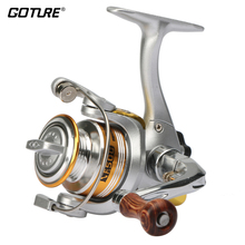 Goture Winter Ice Mini Fishing Reel Small Graphite Body With Aluminum Folded Handle And Wooden Knob