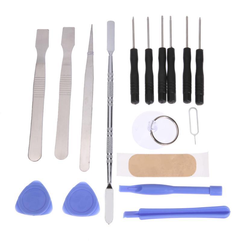 17pcs DIY Phone Opening Pry Tool Repair Kit Screwdriver Set Spudger Pry Opening Tool For IPhone Samsung Screen Replacement