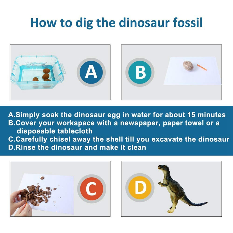 12Pcs Set Dinosaur Eggs Toys Digging Fossils Excavation Dinosaur Toys For Kids Learning Educational Toys Gifts Random Color in Math Toys from Toys Hobbies