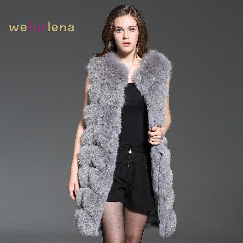 Kadın Giyim'ten Gerçek Kürk'de 2018 Sıcak Satış Welfurlena 90 cm Gerçek Tilki Kürk Yelek Hakiki Kalın Sıcak Yelek Jile Kadınlar Için Moda Kolsuz Mont artı Boyutu'da  Grup 1