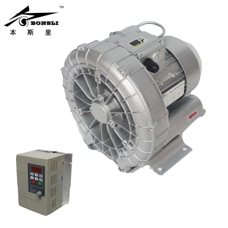 Side Channel Ring Blower 0.75kw vacuum pump air blower Regenerative Blower and For Paper Cutting Machine