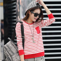 fashion summer tee shirt femme long sleeve tshirt women t shirt womens tops poleras de mujer stripe t-shirt camisetas mujer