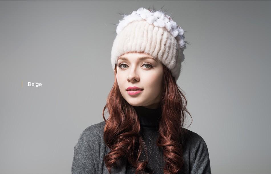 mink fur hats female winter PCM016 (13)