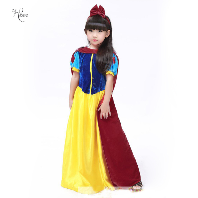 halloween christmas costumes girls party european and american court snow princess dresses queen kids dress children