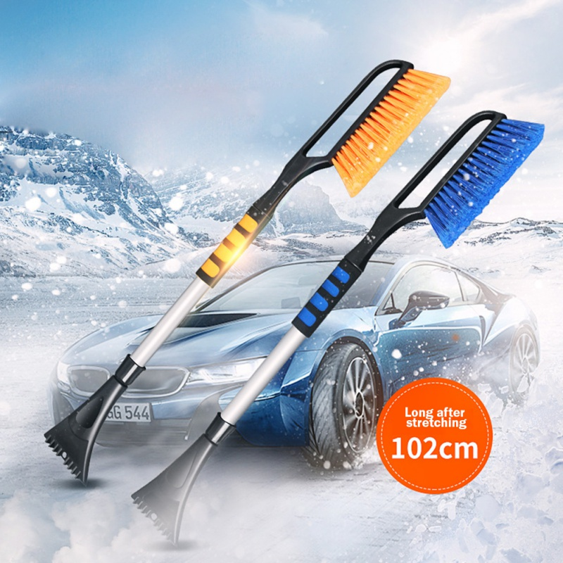 Car Winter Snow Shovel With Extension Rod Retractable Snow Removal de-icing Tool multi-function Ice Scraper