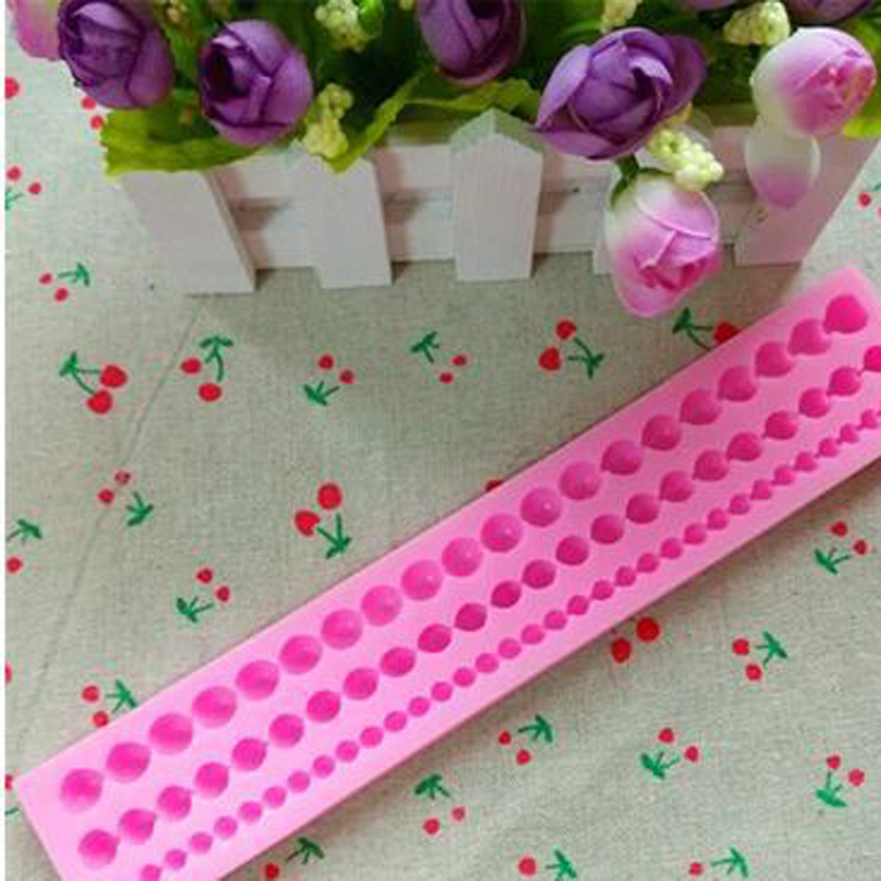 Hot Long Pearl Shaped fondant mold,candy resin molds, silicone soap mold,silicone cake mould,fondant cake decorating tools