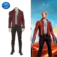 ManLuYunXiao Guardians Of The Galaxy Cosplay Costume Star-Lord Guard Leader Short Jacket Set Halloween Cosplay Costume