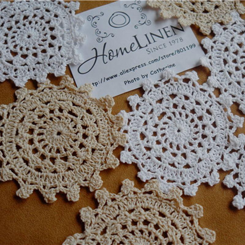 Decor Crochet Doilies Handmade Lace Crochet Placemat Vintage Doilies