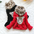 Winter Girls Sweaters Fashion Wool Knitted Cardigan Girls Tiger Printed Leopard Scarf Children Pullover Girl