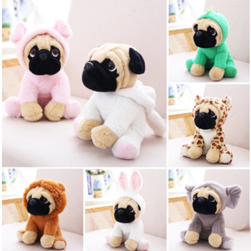 20 CM SharPei Turned Dog Doll Plush Toy Cute Dog Doll Simulation Belldog Pug Stuffed Animals Toys For Children Christmas Gift 6pcs plants vs zombies plush toys 30cm plush game toy for children birthday gift