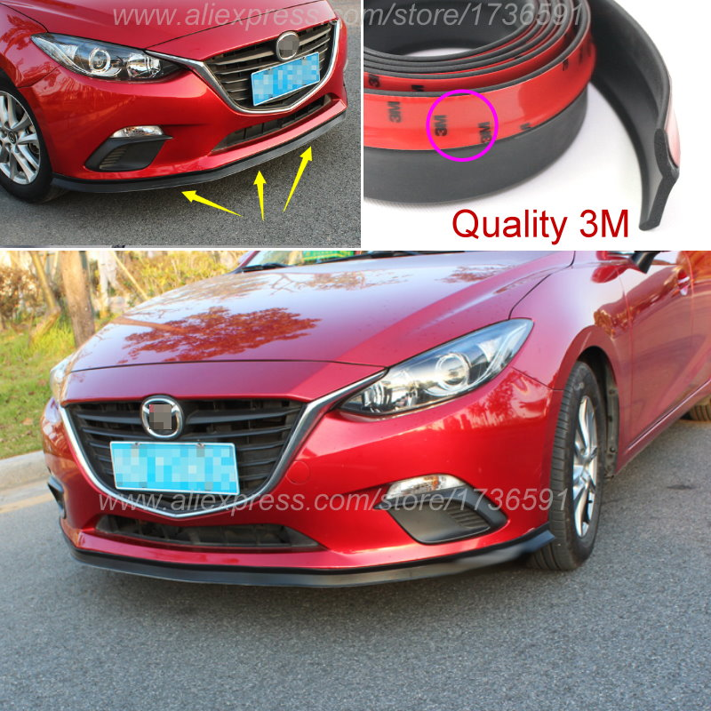 Bumper Lip Deflector Lips For Mazda 2 3 5 6 8 CX 5 CX 4 CX