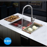 ITAS9934 kitchen sink 304stainless steel single bowl manual thickening above counter orundermount without faucet