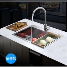 ITAS9934 kitchen sink 304stainless steel single bowl manual thickening above counter orundermount  without faucet 78 50 cm large stainless steel kitchen sink brushed thickening hand made single bowl water tank accessories complete