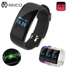 KINCO 2017 Newest Smart Watch Bracelet OLED Heart Rate Monitor 4 Color Sleep Management Wristband For Android IOS