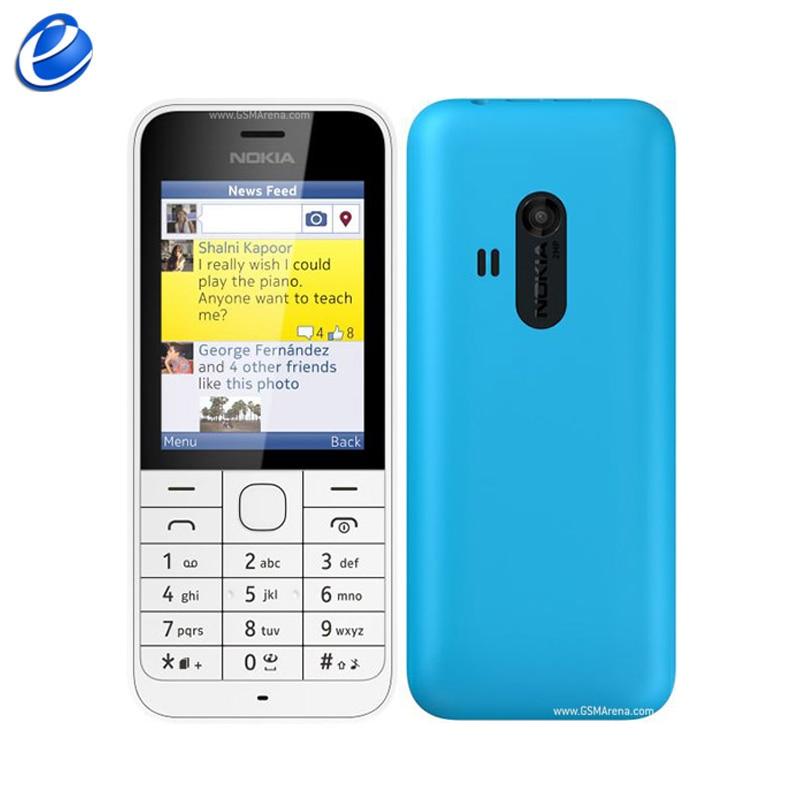 Original Unlocked Nokia 220 GSM 2 4Inch Dual SIM Cards 2MP Camera Bluetooth FM Radio 1100mAh