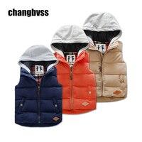 2016 Winter Boys Vest Kid Waistcoats Boy Child Sleeveless Jacket Thicken Kid Clothing Boy Outwear Autumn