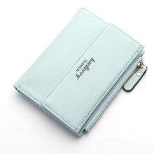 Hot Fashion Women's Purse Thin Zipper Women's Wallet Ladies PU Leather Wallets Female Purse Mini Card Case Cheap Womens Wallets