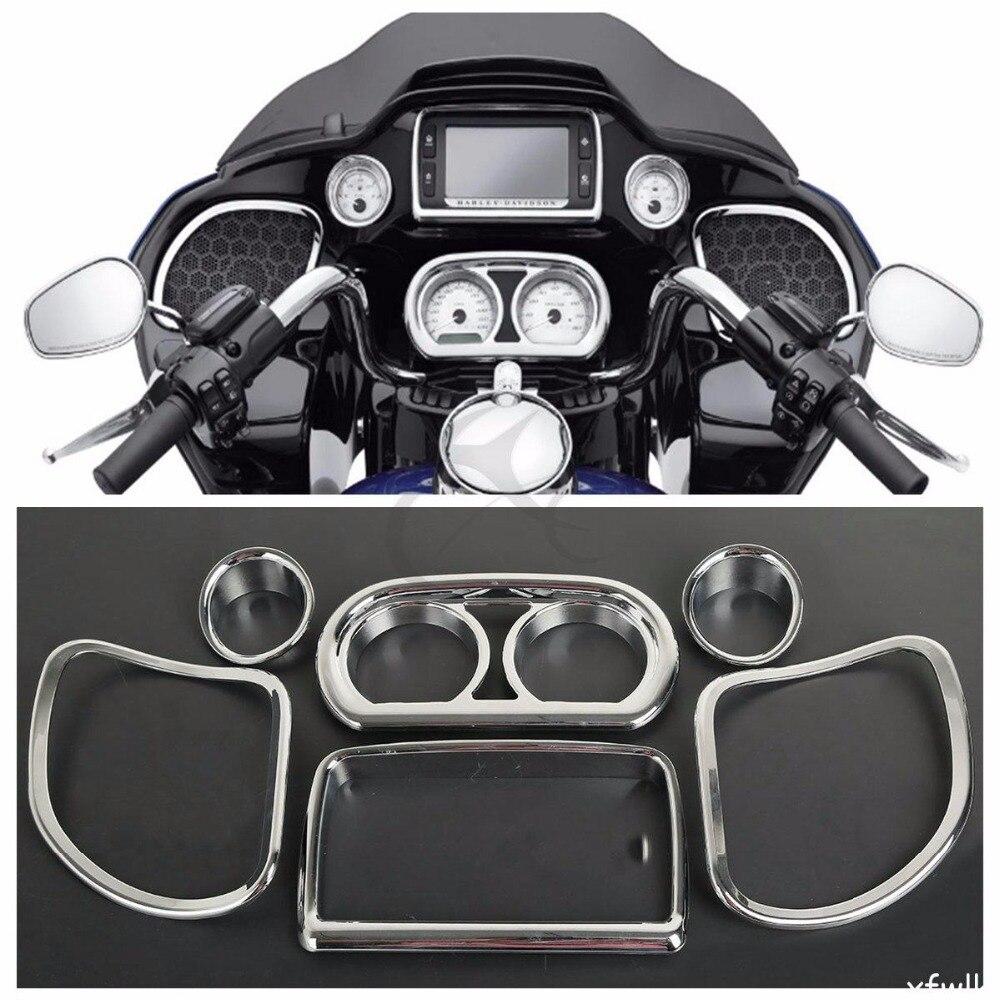 Внутренний обтекатель спидометр Радио спикер отделка Комплект для Harley дорога скользить 2015-2017 FLTRX
