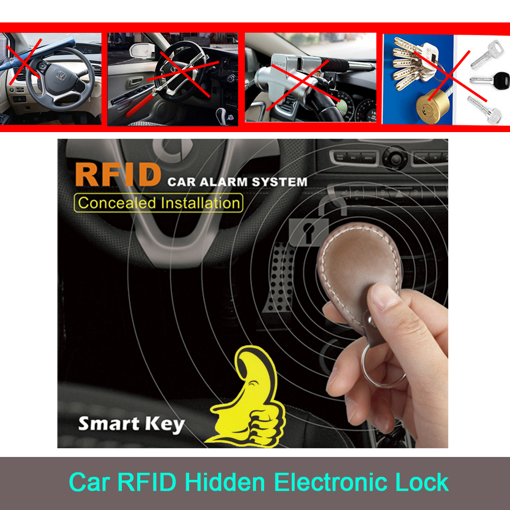 BANVIE Smart Key anti theft car ignition cut off RFID Immobilizer alarm system double layer start protection function starline