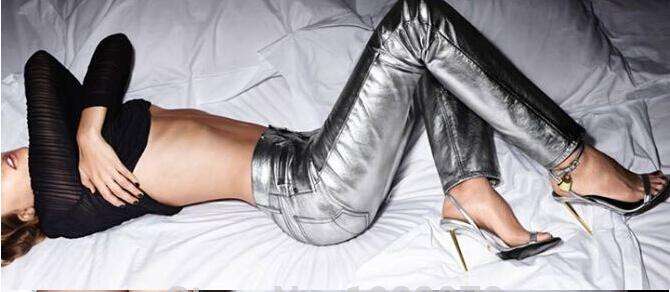 ФОТО Summer Charming Decent Women Sandal shoes woman Metal Ankle-lock Gold Stiletto Heel Sandals Designer Summer Style shoes woman Dr