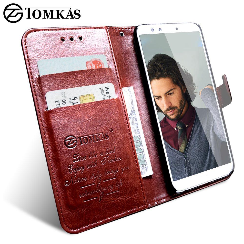 Tomkas бумажник чехол для huawei Honor 9 Lite крышка на роскошные чехлы для мобильных телефонов в стиле ретро из полиуретановой кожи флип чехол для тел...