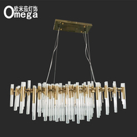 Postmodern creative glass crystal hotel model room dining room lamp designer showroom living room atmosphere art chandelier
