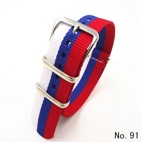 1PCS High quality 20MM Nylon Watch band NATO straps waterproof watch strap Russian flag color-5101 wholesale 10pcs lot high quality 20mm nylon watch band nato waterproof watch strap colorful fashion wach band nato strap new