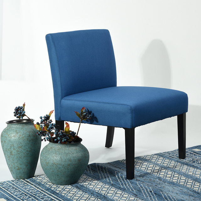 modern accent chair with backrest eggree premium linen fabric padded sofa chair for home office - Modern Accent Chairs