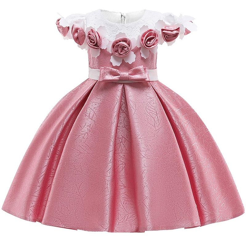 12yrs nouveau bébé grand arc tutu robe de princesse pour fille élégante fleur fête d'anniversaire fille robe bébé fille vêtements de noël