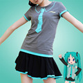 Anime Hatsune Miku Short Sleeve Cotton T Shirt Cosplay Clothes Girl Cute Casual T-shirt New Fashion