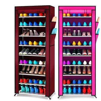 10-Tier Simple Dustproof Shoe Rack Home Large Capacity Storage Shoe Furniture Shelf Cabinet hallway Shoes Organizers Space Saver