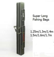 1.25m 1.3m 1.4m 1.5m 1.6m 1.7 m canvas fishing rod bag super long two layer fishing bag long pole package fishing tackle bags