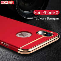 Funda para iPhone X funda 3 en 1 de lujo Ultra fina Mofi funda protectora dura negra trasera para iPhone 10 iPhone X edición