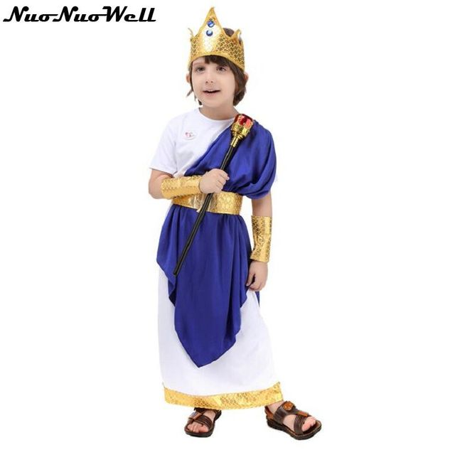 Ancient Roman Costume for Children's Day Halloween Cosplay Party Greek Neptune Role Playing