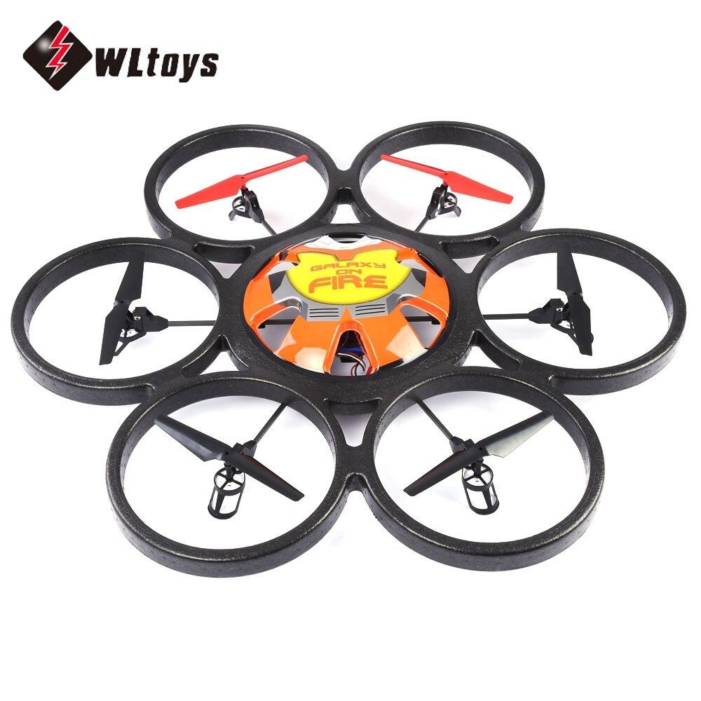 Новый WLtoys V323 дроны 2,4 г 4CH 6 оси гироскопа 2MP Камера RTF радиоуправляемые Квадрокоптеры удаленного Управление Hexacopter Летающий блюдце Drone Дрон иг...