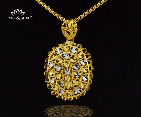 Men/Women Jewelry 18K Real Gold Plated 43x33mm Big floating locket Romantic heart filled Pendant Necklace YP050 - Mr&Miss(J&L storeJewelry )