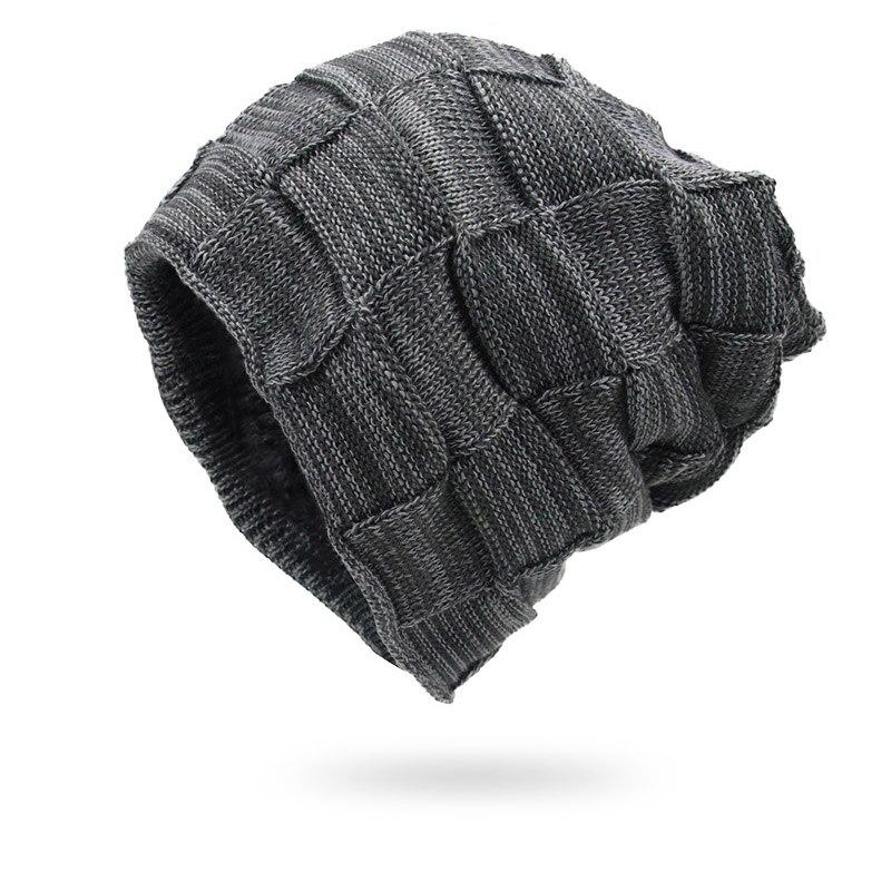 Winter Men Hats Knitted Keep Warm Thick Soft Beanies Hats Winter Accessories  Skullies   Beanies Male Beanies Caps Cotton Autumn f2e1d0ee1bdd