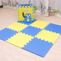 baby EVA Foam Play Puzzle Mat/ 18 lot Interlocking Exercise Tiles Floor Carpet Rug for Kid,Each 30cmX30cm for kids gift