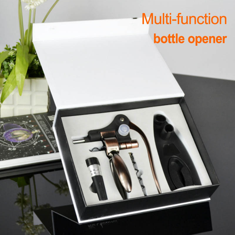 Hot Sale Party Red Wine Opener, tin foil cutter,vacuum wine stopper,base bracket,drill bit Multi-function portable bottle openerHot Sale Party Red Wine Opener, tin foil cutter,vacuum wine stopper,base bracket,drill bit Multi-function portable bottle opener