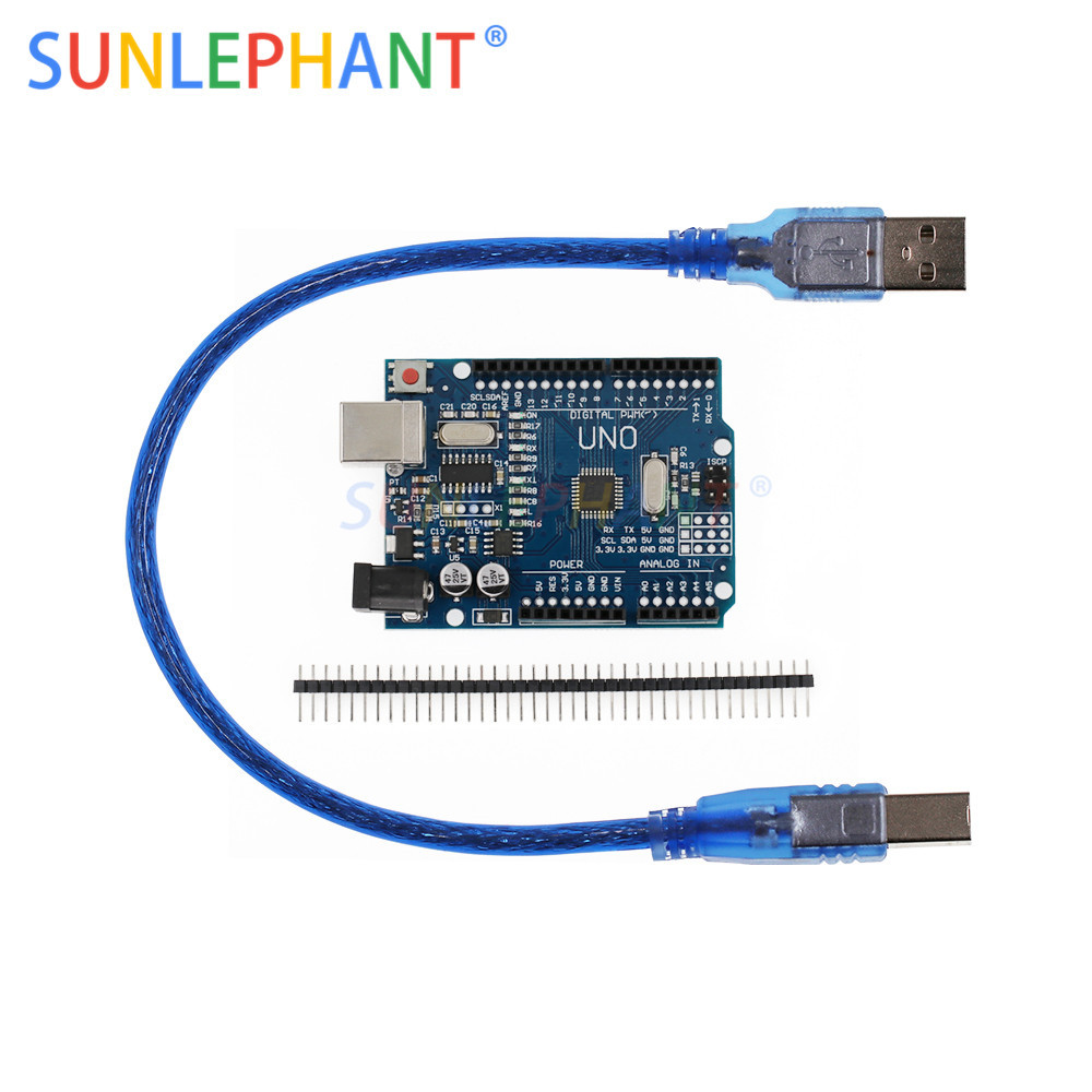 High Quality One Set UNO R3 CH340G+MEGA328P Chip 16Mhz For UNO R3 Development Board USB CABLE MEGA 2560 R3