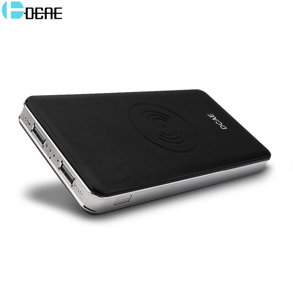 DCAE 10000mah Power Bank External Battery Qi Wireless