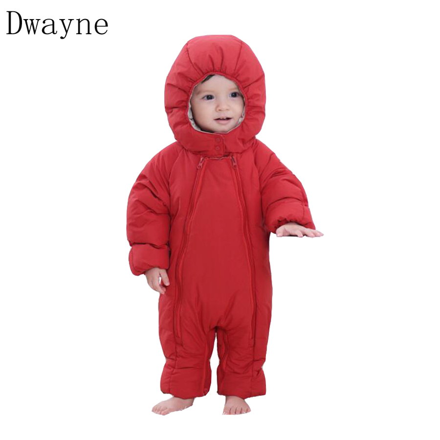 2018 Newborn Clothes Baby Rompers Boys Winter Clothing Kids Hooded Outerwear Jumpsuit Toddler Girls Costumes Baby Infant Romper ruffled flower baby rompers summer newborn baby costumes kids jumpsuit toddler baby girl romper ropa bebe clothes polo outfits