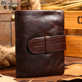 Stylish Men's Leather Wallet Short Paragraph First Layer of Leather oil Wax Skin Retro Business men Wallets Purse of men