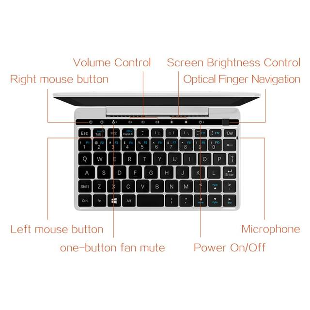 US $663 89 28% OFF Gpd Pocket 2 7 Inch Mini Laptop Notebook Umpc Support  Windows 10 System M3 8100Y Cpu 8Gb Ram/128G Emmc Eu Plug-in Laptops from