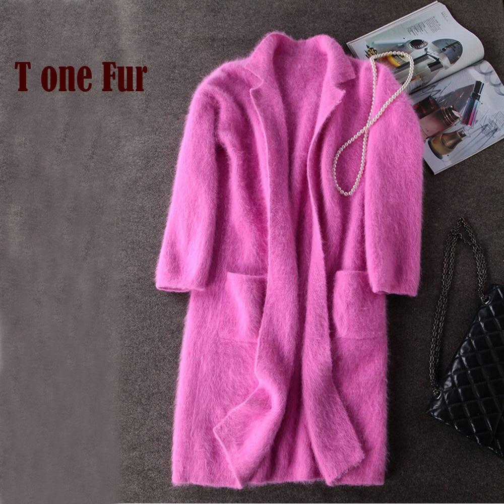 Luxury Long Mink Cashmere Coat Women Fashion Real Mink Cashmere Long Jacket Wholesale Retail Custom Big Size And Color KFP830