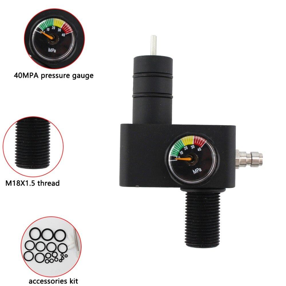 Пейнтбол PCP Airforce HPA высокое давление Z клапан 30MPA 4500PSI наполнение воздухом давление регулятор 300bar тесты переключатель клапана клапан
